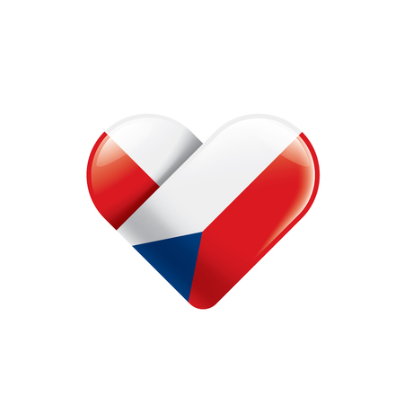 Czechia national flag, vector illustration on a white background 矢量图像