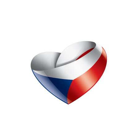 Czechia national flag, vector illustration on a white background Reklamní fotografie - 126472905