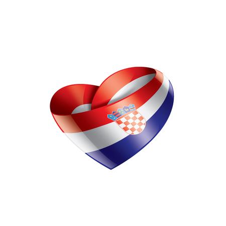 Croatia national flag, vector illustration on a white background