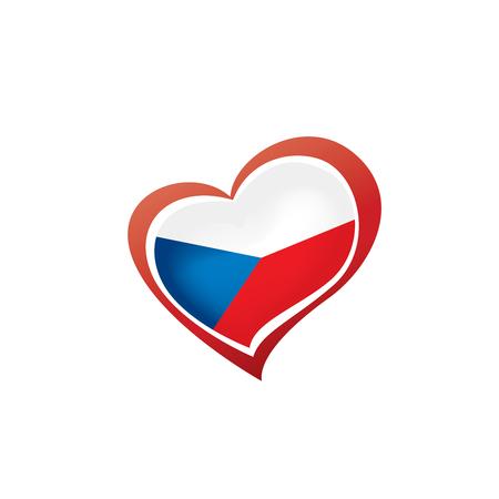 Czechia national flag, vector illustration on a white background Ilustrace