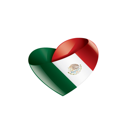 Mexican national flag, vector illustration on a white background