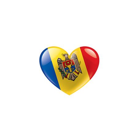 Moldova national flag, vector illustration on a white background