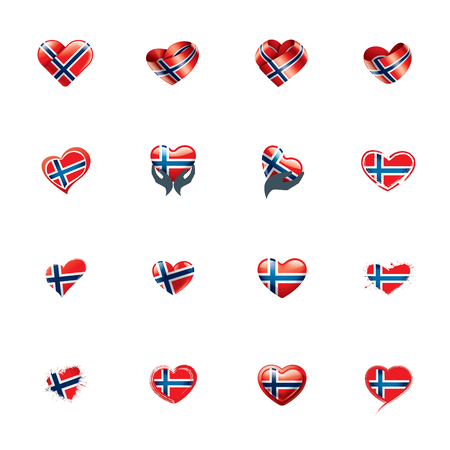 Norway national flag, vector illustration on a white background