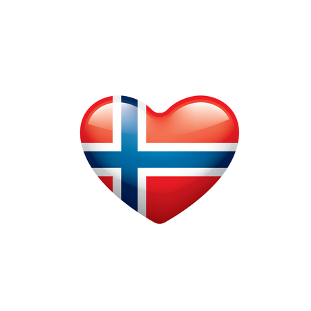 Norway national flag, vector illustration on a white background Ilustracja