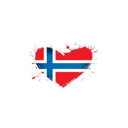 Norway national flag, vector illustration on a white background Illustration