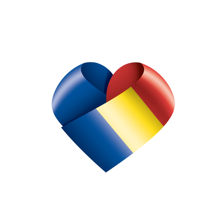 Romania national flag, vector illustration on a white background Vektorové ilustrace