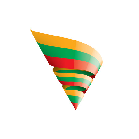 Lithuania flag, vector illustration on a white background Ilustração