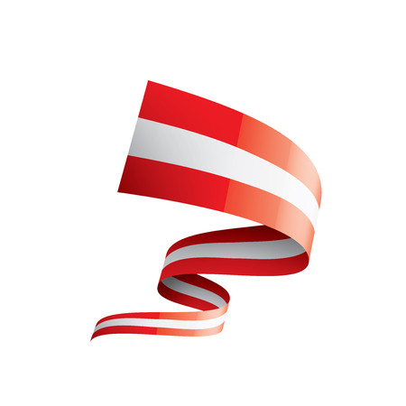 Austria flag, vector illustration on a white background.
