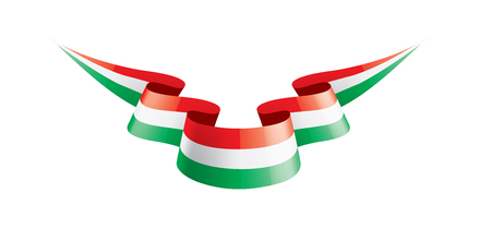 Hungary flag, vector illustration on a white background.