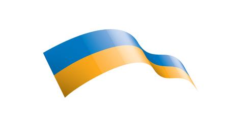 Ukraine flag, vector illustration on a white background.