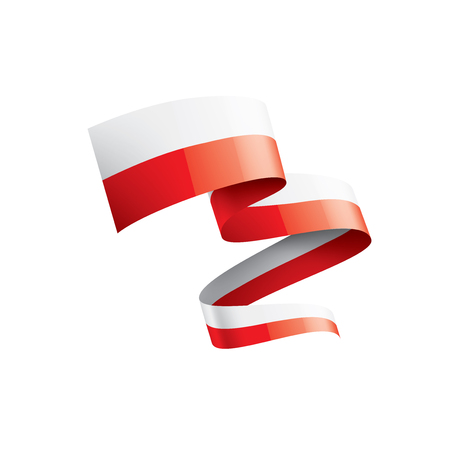 Poland flag, vector illustration on a white background.