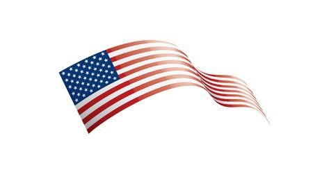 USA flag, vector illustration on a white background.