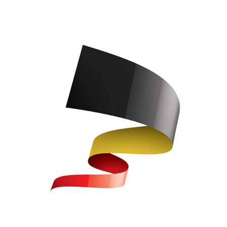 Belgium flag, vector illustration on a white background. 矢量图像