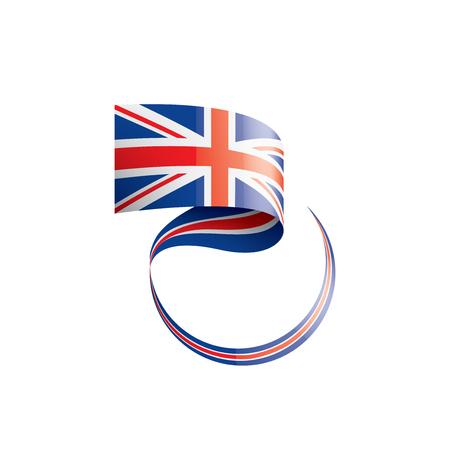 United Kingdom flag, vector illustration on a white background.