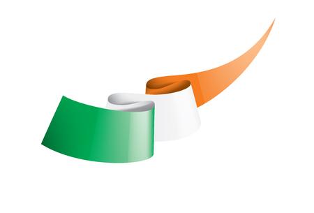 Ireland flag, vector illustration on a white background,