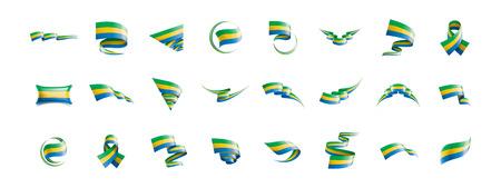 Gabon flag, vector illustration on a white background