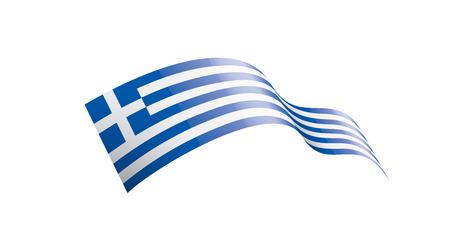 Bandiera della Grecia, illustrazione vettoriale su sfondo bianco Vettoriali