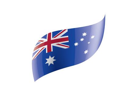 Australia flag, vector illustration on a white background