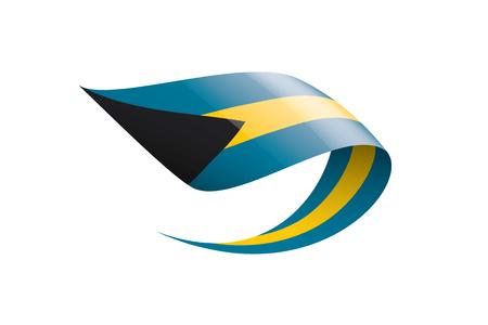 Bahamas flag, vector illustration on a white background. Vetores