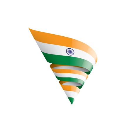 India flag, vector illustration on a white background Ilustração