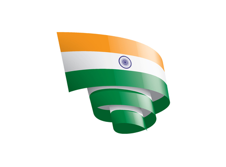 India national flag, vector illustration on a white background