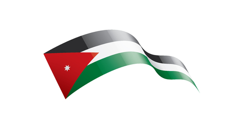 Jordan national flag, vector illustration on a white background
