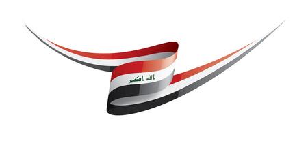 Drapeau irakien, illustration vectorielle sur fond blanc Vecteurs