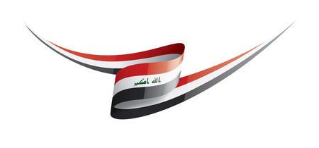 Iraqi flag, vector illustration on a white background Illustration