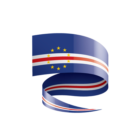 Cape Verde flag, vector illustration on a white background Vectores