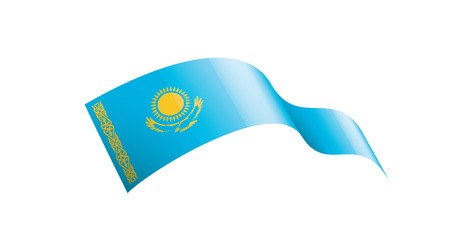 Kazakhstan national flag, vector illustration on a white background