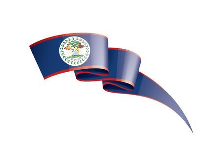 Belize national flag, vector illustration on a white background