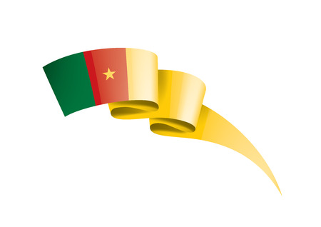 Cameroon national flag, vector illustration on a white background Ilustração