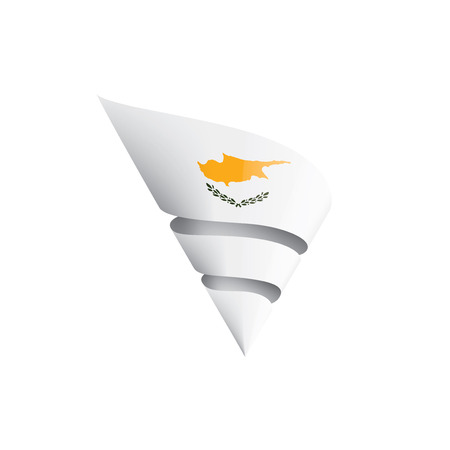 Cyprus flag, vector illustration on a white background Ilustração