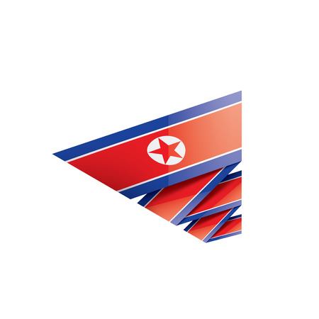 North Korea national flag, vector illustration on a white background Illusztráció