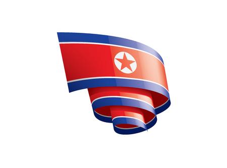 North Korea national flag, vector illustration on a white background Illustration