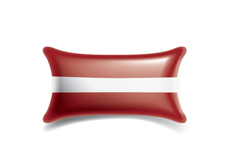 Latvia national flag, vector illustration on a white background