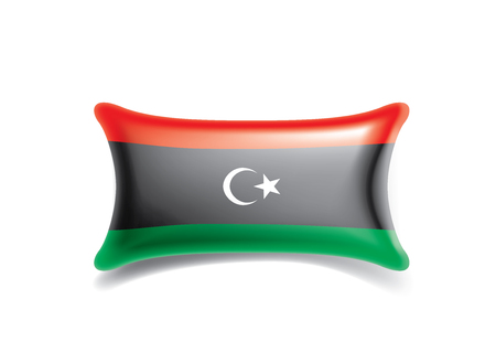 Libya national flag, vector illustration on a white background Illustration