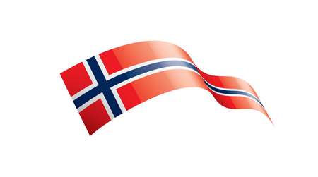 Norway national flag, vector illustration on a white background 矢量图像