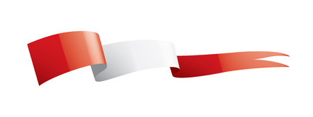 Peru national flag, vector illustration on a white background