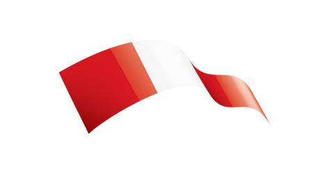 Peru Nationalflagge, Vektorillustration auf einem weißen Hintergrund Vektorgrafik