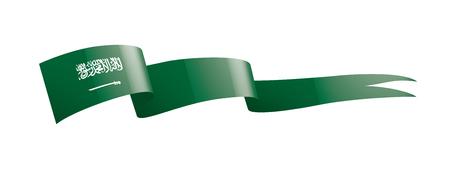 Saudi Arabia national flag, vector illustration on a white background Vector Illustration