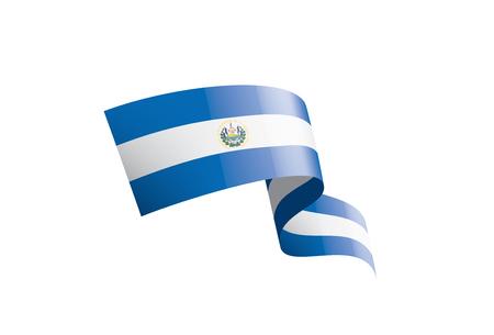 Salvador national flag, vector illustration on a white background Vektoros illusztráció