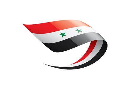 Drapeau national de la Syrie, illustration vectorielle sur fond blanc Vecteurs