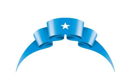 Drapeau national de la Somalie, illustration vectorielle sur fond blanc