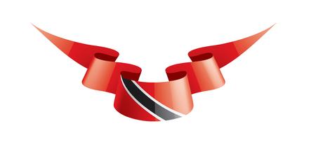 bandera nacional de trinidad y tobago, ilustración vectorial sobre un fondo blanco Ilustración de vector