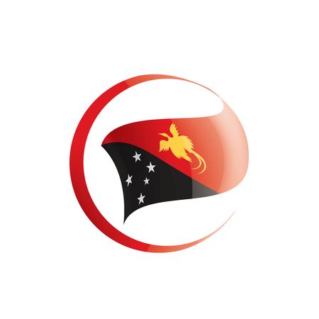 Drapeau national de la Papouasie-Nouvelle-Guinée, illustration vectorielle sur fond blanc