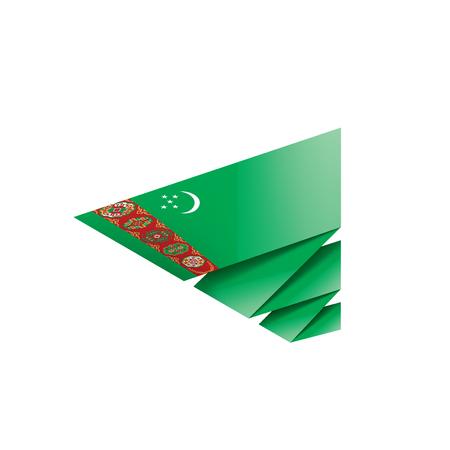 Turkmenistan national flag, vector illustration on a white background Vecteurs