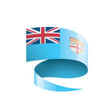 Fiji national flag, vector illustration on a white background