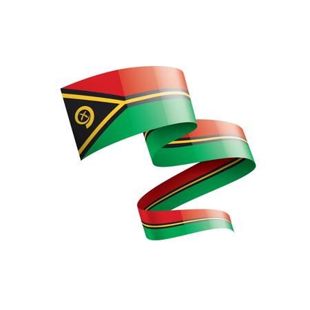 Vanuatu national flag, vector illustration on a white background