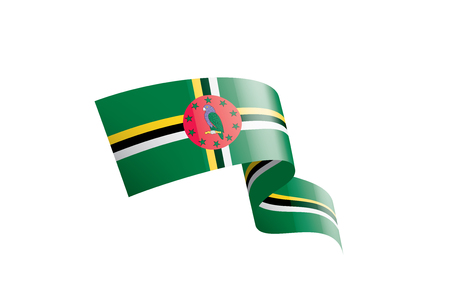 Dominica national flag, vector illustration on a white background
